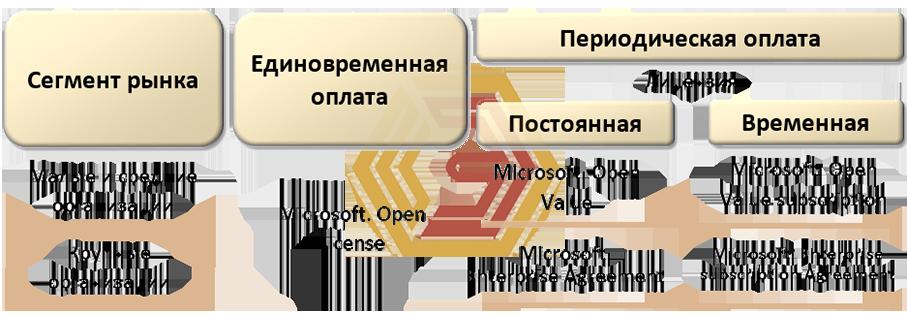 Схема лицензирования программного обеспечения Microsoft
