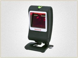 Стационарный сканер штрих кода используется на рабочих местах со средним потоком считывания штрих кодов