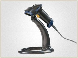 Модель сканера штрих кода АТОЛ SB 1101 Plus. комплектуется подставкой для большего комфорта кассира.
