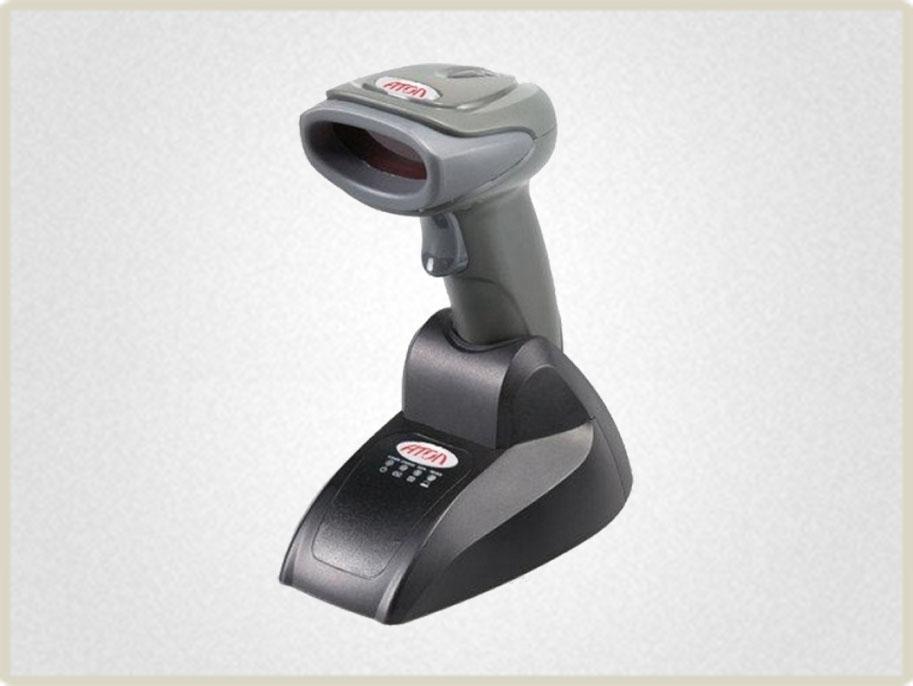 Данный сканер щтрих кода оснащен функцией удаленной работы Bluetooth, что дает возможность тридцатичасовой работы без дополнительной подзарядки.