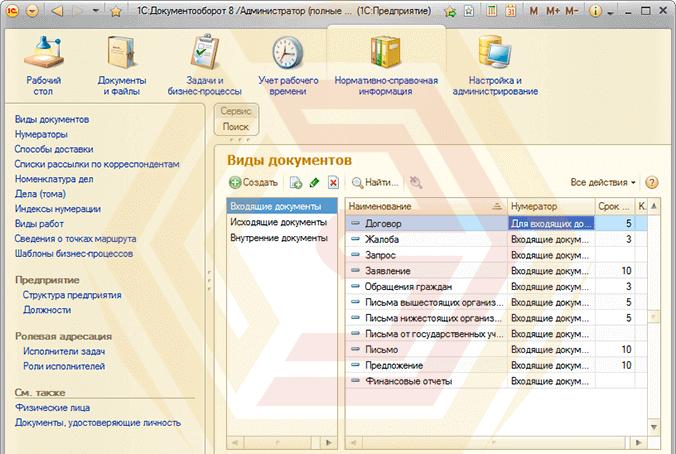 1С:Документооборот автоматизирует работу с документами предприятия, оптимизирует время работы с информацией.