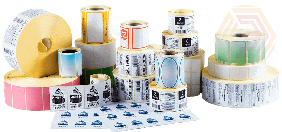 В наличии на нашем складе этикет лента любого формата и цвета. Возможна разработка индивидуального формата этикетки, выделение различных областей печати наносимых принтером этикеток - штрих кода, цены, дополнительной информации. Уникальная по составу и формату этикетка.