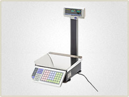 Весы с печатью этикеток для торговых залов